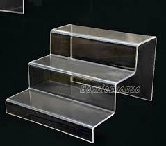 Plastic Table Display Stands Incredible Step Acrylic Product Retail Counter Stand