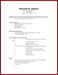 Curriculum Vitae Work Experience Examples Resume With No Sample S How
