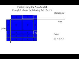 mathcast 010 using the area model to factor trinomials