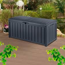 Keter Glenwood 390 Litre Deck Box by Auflagenbox Glenwood Zum Sitzen In Holzoptik Von Gärtner Pötschke