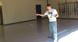 Applying Decorative Flakes To Epoxy Floor