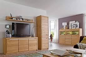 expendio wohnzimmer pisa 56 eiche bianco massiv 4 teilig