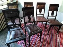 antike stühle holz leder jugendstil signiert aus kassel um