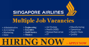 latest jobs vacancies open in singapore airlines