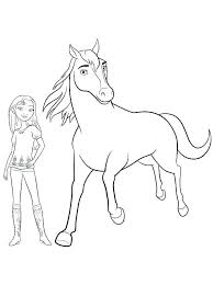 Spirit Horse Coloring Pages Lucky And