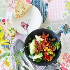kichererbsen salat mit chorizo und spinat