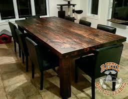 table en bois de cuisine table de cuisine en bois de grange l40 in wonderful home interior