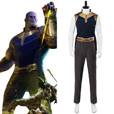 Avengers Infinity War Thanos Cosplay Costume Outfit Adult Full Set