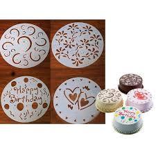 pochoir pour cuisine 4 pochoirs pour gâteau pour cake rond deco maison ustensile