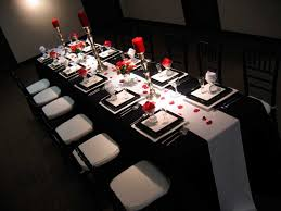Epic Image Of Dining Room Decoration With Various Black And White Table Setting Ideas Exciting
