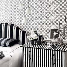 Modern Black And White Wallpaper Bedroom