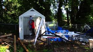 Everton 8 X 12 Wood Storage Shed by Assembling A Costco Shed In 30 Seconds Youtube