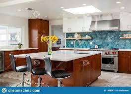 100 Modern Home Interiors Design Kitchen Island Editorial Stock