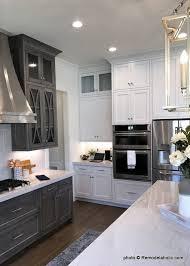 White Kitchen Idea Remodelaholic Grey And White Kitchen Cabinet Ideas