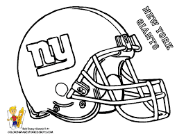 New York Giants Football Coloring Pages Book For