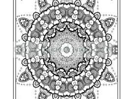 Adult Colouring In PDF Download Zen Mandalas Garden Anti Stress Mindfulness Flowers