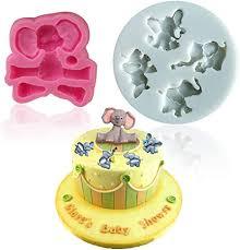 mity elefanten schokoladenform kleine elefanten silikonform für kuchen fondant cupcake dekoration süßigkeiten kuchen baby zubehör