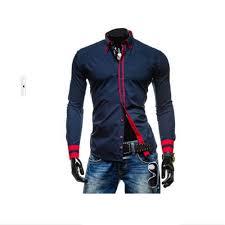 2015 new dress fashion quality long sleeve shirt men korean slim