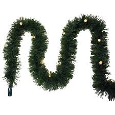 Ge 75 Ft Christmas Trees by Shop Ge Indoor Outdoor Pre Lit 25 Ft L Pine Garland With Color
