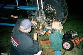 Daddys Little Helper A Young Rosalee Would Hold Up Flashlight To Help Her Dad