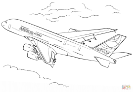 Airbus A380 Coloring Page Free Printable Coloring Pages Dedans