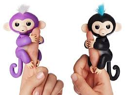 Fingerlings Interactive Monkeys Mia Purple Baby Monkey Finn Black 2 Pack