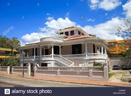 Usa Caribbean Puerto Rico West Coast St German Colonial Architecture
