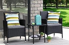 Amazon Prime Patio Chair Cushions by Amazon Com Baner Garden 3 Pieces Outdoor Furniture Complete Patio