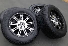100 20 Inch Truck Rims Black Wheels Tires Dodge RAM 1500 X9 Mirror Black