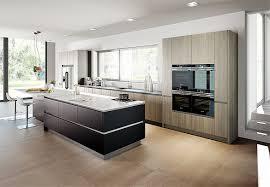 grifflose küche inox schwarz matt lackiert forest line