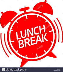 Lunch Break Alarm Clock Ringing Vector Illustration