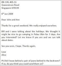 Expressoul Club Informal letter Sample 2