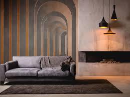 tapeten für wohnzimmer 3dmuster kombinationen sofa kamin
