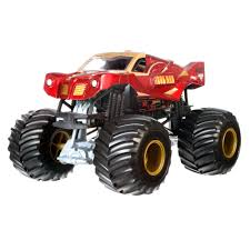 Hot Wheels Monster Jam Off-Road Iron Man Die-Cast Metal Body Vehicle ...