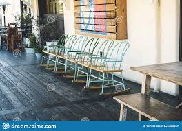 Rustic Chairs At Anaheim Packing House Editorial Stock Photo ...