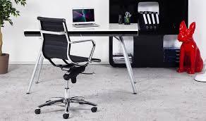 fauteuil de bureau ergonomique et réglable en simili cuir noir
