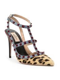 valentino u0027rockstud u0027 leopard pumps lyst