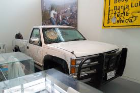 File:Newseum - Bullet-Riddled Truck (14614669975).jpg - Wikimedia ... Spillver Bullet 100 Foot Oil Boom Gun Watch Nice Truck Windshield Hole Speculation Ford Wheels Pats 1989 F150 82009 Sterling Airbag Recall Brigvin 2008 Rollback Truck Item Db2766 Sold De Silver Bullet Ford F250 Talkn Torque Is Your Proof Diesel Tech Magazine Devoted Daily Jared Traylors Silver Ram Hpi St 30 Rtr 110 Scale 4wd Nitro Stadium Hpi110660 Cars Trucks Big Rigs Pulling Series 1 Loading Up On Trailer Chris Brown Buys A 3500 Army To For Safety