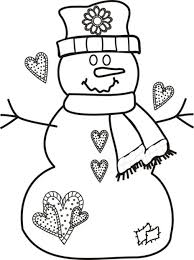 Snowman Printable Coloring Pages Free Christmas Online