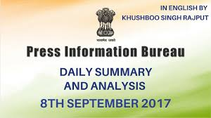 press bureau pib analysis 8th september 2017 press information bureau