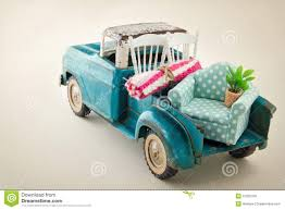 100 Toy Moving Truck Packed With Furniture Stock Image Image Of Rusty