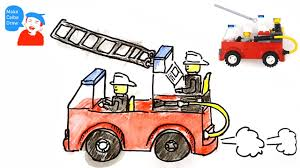 100 Fire Truck Drawing How To Draw A Fire Truck For Kids With Lego Fire Truck YouTube