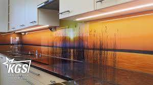 echtglas küchenrückwände mit digitaldruck lackierung oder