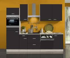 küchenblock faro 270 cm mit einbauspüle ohne elektrogeräte in anthrazit geschirrspüler geeignet