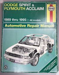 Haynes Repair Manual Dodge Spirit Plymouth Acclaim 1989 Thru 1995 ... Free Truck Repair Manuals Data Wiring Diagrams 2005 Chevy Manual Online A Good Owner Example Ford User Guide 1988 Toyota The Best Way To Go Is A Factory Detroit Iron Dcdf107 571967 Parts On Cd Haynes Dodge Spirit Plymouth Acclaim 1989 Thru 1995 Chiltons 2007 Hhr Basic Instruction Linde Fork Lift Spare 2014 Download Chilton Asian Service 2010 Simple Books Car Software Mitchell On Demand Heavy Service Hyundai Accent Pdf