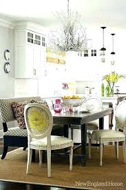 Settee Dining Room Set Settees Also Great With A Rectangular Table And Mix Of Chairs