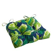 Palm Leaves Indoor Outdoor Square Seat Pad