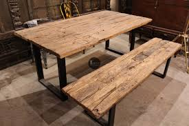 Railway Dining Table Set Glass Included