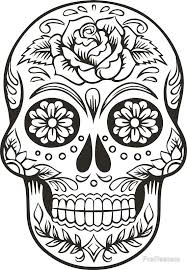 Mexican Skull By FrePeeters SkullsColoring BooksTattoo