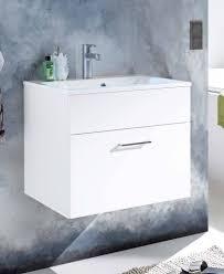 badezimmer kommode splash 60 mit waschbecken 2 tlg set weiß